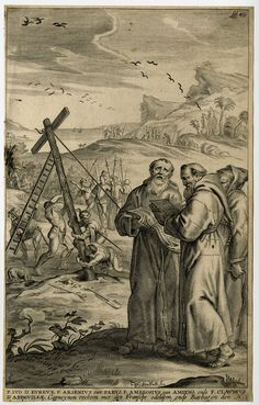 Antique Print-SOUTH AMERICA-CAPUCHIN MONK-CROSS-Bouttats-1668 | eBay