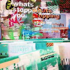 New work // studio wall still life. #shopdaze #stilllife #pattern #screenprint #electriccoffin #art