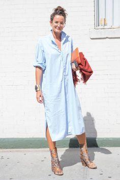 Lucy Chadwick, gallery director of Gavin Brown's Enterprise, at New York Fashion Week. Photo: KDV/Fashionista
