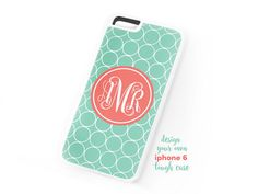 New to TheMonogramLine on Etsy: monogrammed iphone 6 tough case  two part  rubber  plastic  design your own (22.50 USD)