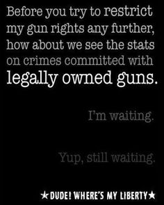 stats on crimes committed with legally owned guns