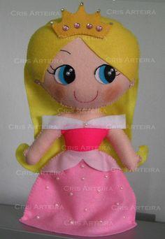 Princesa Aurora, Bela Adormecida, em feltro