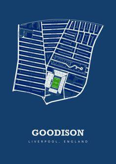 Everton FC - Goodison Park. Art Print