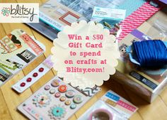 Blitsy Crafts: Weekly Giveaway Plus Last Week's Winner! Scrapbook Supplies, Craft Supplies, Fun Crafts, Arts And Crafts, Gift Card Giveaway, Sister Gifts, Fun Games, Stocking Stuffers, Christmas Crafts