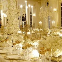 Reception inspiration- gold + white