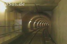 Underground Train Tunnel Metro Driving on Rail Tracks