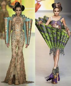 Guo Pei fashion designer from China displayed his creation at a Fashion Week via the Lovely Room Haute Couture Style, Couture Mode, Couture Fashion, Runway Fashion, Unique Fashion, Weird Fashion, Look Fashion, Fashion Art, High Fashion