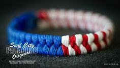Proud to be an American? Show your national pride with this red white and blue fishtail paracord bracelet. ***IMPORTANT, PLEASE READ REGARDING SIZING*** Products are made to order. You must select the