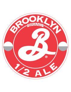 Cerveja 1/2 Ale, estilo Saison / Farmhouse, produzida por Brooklyn Brewery, Estados Unidos. 3.4% ABV de álcool.