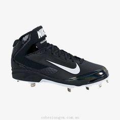 69aab6b999fa Nike Air Huarache Pro Mid Metal Men's Baseball Cleat Black 599235-001 Sz 11  Metal