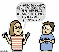Imagenes chistosas: Grupo de amigos con móviles →  #Fotosgraciosas #Imagenescomicas #Imagenesconhumor #imagenesdivertidas #imagenesgraciosas