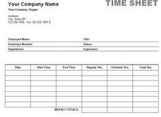 Free Printable Timesheet Templates  Free Weekly Employee Time