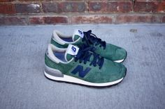 New Balance 990 - Green / Navy | Sneaker | Kith NYC