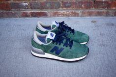 New Balance 990 - Green / Navy   Sneaker   Kith NYC
