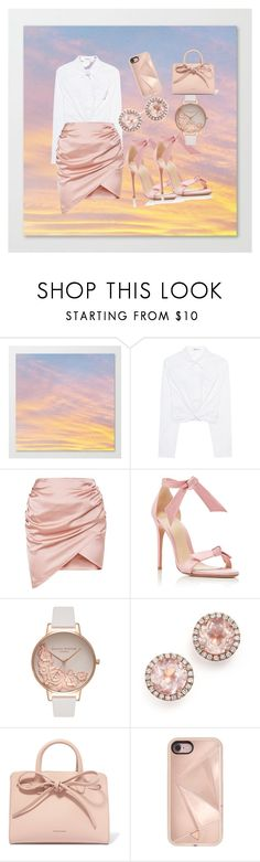"""🌹"" by destinynunez23 ❤ liked on Polyvore featuring T By Alexander Wang, Alexandre Birman, Olivia Burton, Dana Rebecca Designs, Mansur Gavriel and Rebecca Minkoff"