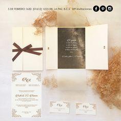 ÉSTAS SON LAS INVITACIONES! este proyecto fué una aventura muy especial, la elección del papel, diseño, impresión hasta la reacción de mis clientes, eso ¡¡¡fué lo mejor!!! porque quedaron  satisfechos y nosotros felices de haber podido ser parte de el mejor día de sus vidas. Bendiciones siempre a los 2, esperamos sean muy felices y gracias por confiarme el diseño de su papelería social  ...Rob & Ramón #iDEALÍZATE con #DPinvitaciones #diseñopapelimpresión Social, February 5, Adventure, Parts Of The Mass, Invitations, Thanks, Paper Envelopes, Blue Prints