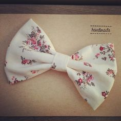 Fabric Bow Hair Clip or Headband Vintage by WhimsicalElements1, $9.00