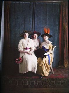 c.1910 Autochrome ~ I love seeing my favorite time period in color!
