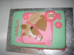 horse cakes for girls birthday | Horse Themed Birthday Cake — Children's Birthday Cakes