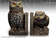 Windstone Editions Owl Bookends 1005L and 1005R by M. Peña