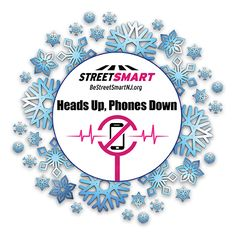 Winter Safety Tips from the Street Smart NJ pedestrian safety campaign. Avoid distracted driving and walking #BeStreetSmartNJ