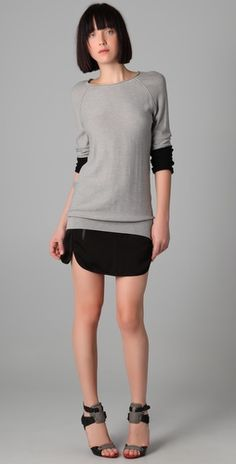 Alexander Wang: skirt with layered sweater tops