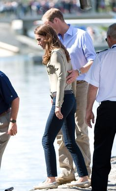 Pin for Later: Prince William and Kate Middleton's 65 Best Married Moments  Prince William put a loving hand on Kate Middleton's back during a stop in Yellowknife, Canada, in July 2011.
