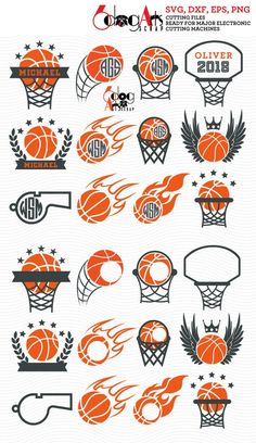 Basketball Sport Monogram Frames - vector digital files to use for your crafting projects. Our cut f Basketball Drawings, Basketball Tattoos, Pool Basketball, Basketball Posters, Basketball Design, Basketball Shirts, Basketball Doodle, Cheer Posters, Basketball Bedroom