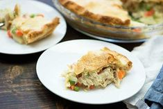 Easy Chicken Pot Pie Entree Recipes, Meat Recipes, Chicken Recipes, Dinner Recipes, Cooking Recipes, Amish Recipes, Chicken Meals, Turkey Recipes, Dinner Ideas