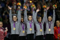 US Women's Gymnastics Team Wins Gold - 2012 Olympics