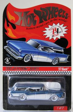 2010 Hot Wheels RLC Selections Series '57 Buick Custom Hot Wheels, Hot Wheels Cars, Carros Hot Wheels, Toys R Us Kids, Toys Land, Matchbox Cars, Weird Cars, Automotive Art, Us Cars
