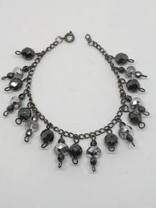 Black Beaded Charm Bracelet                      – Jewelz Galore