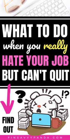 Do you hate your job with a passion despite the fact that it pays well? Here's what to do when you hate your job but can't quit for financial reasons. Earn Money From Home, Way To Make Money, Hate Job, Job Memes, Hating Your Job, I Feel You, Quitting Your Job, Business Advice, Funny Me