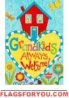 Grandkids Always Welcome Garden Flag