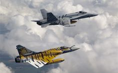 F-18 and Mirage Fighters