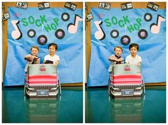 50s sock hop party | photo booth