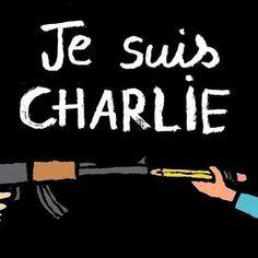 Hommage de l'illustrateur Jean Jullien à Charlie hebdo @jean_jullien ...réépinglé par Maurie Daboux