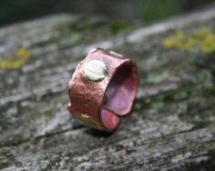 copper ring coper band adjustable ring by Blacksmithworkshop