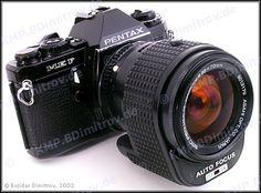 Black Pentax ME F with the fitting AF35-70/2.8 lens: the world's first TTL-AF camera