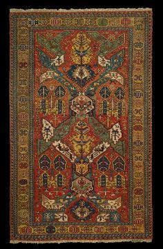Antique Kuba Dragon soumac rug, mid 19th century, Mirco Cattai Collection, Italy