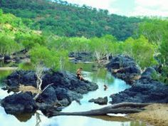 An early morning dip in the hot creek at Innot Hot Springs, Far North Queensland... - Google Maps