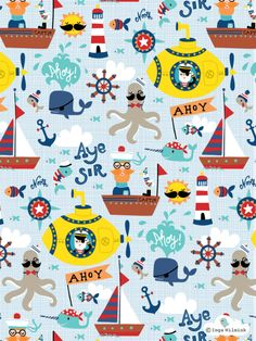 Nautical Illustration - Pattern - Inga Wilmink