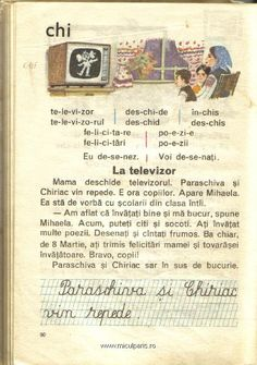 La televizor Romanian Language, Vintage School, My Childhood, Nostalgia, Preschool, Parenting, Classroom, Memories, Teaching