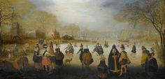 Winter Landscape with SkatersWinterlandschap met schaatsers, Adam van Breen, ca. 1615 - ca. 1620