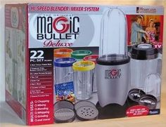 Magic Bullet. I want the whole damn set... glasses, pitchers, cookbook and all!