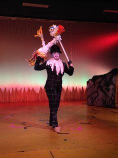 Creating Zazu the lion king jr disney theater costumes puppet