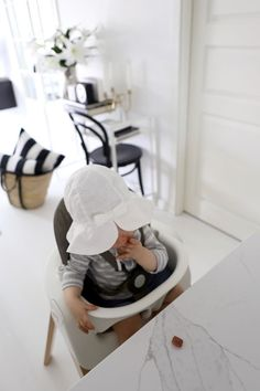 Homevialaura | Summer interior | monochrome striped cushions | TON Chair 14 | Tine K basket bag | toddler