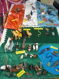 """Από  την προηγούμενη εβδομάδα έ χουμε ξεκινήσει να ασχολούμαστε με τα ζώα. Το θέμα """"ζώα"""" στο νη πιαγωγείο μου φαίνεται ελαφρώς χαοτικό.  Έ..."""