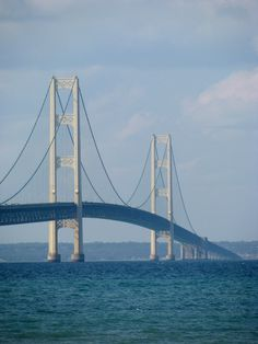 """Read about the Mackinac Bridge in Mackinac, Michigan in the """"ASCE People and Projects"""""""