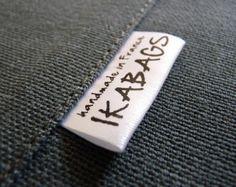 Fabric Labels 90 pcs Custom Satin Folded Care Label by ikaprint